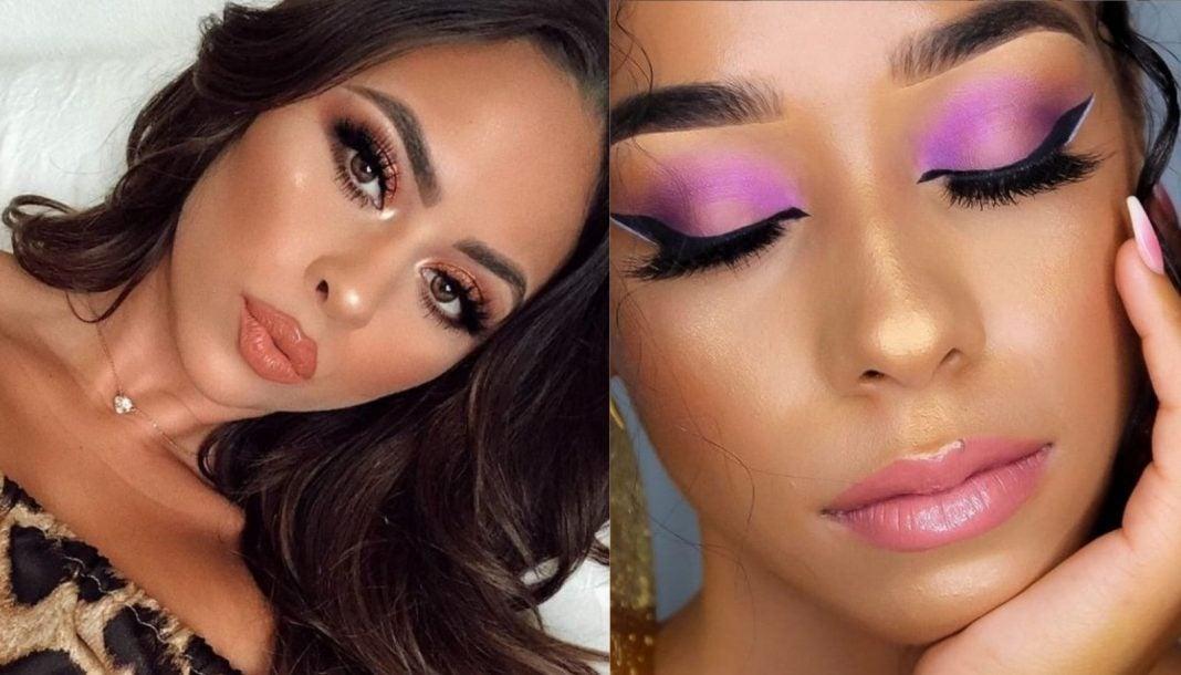 maquillaje rosa para morenas