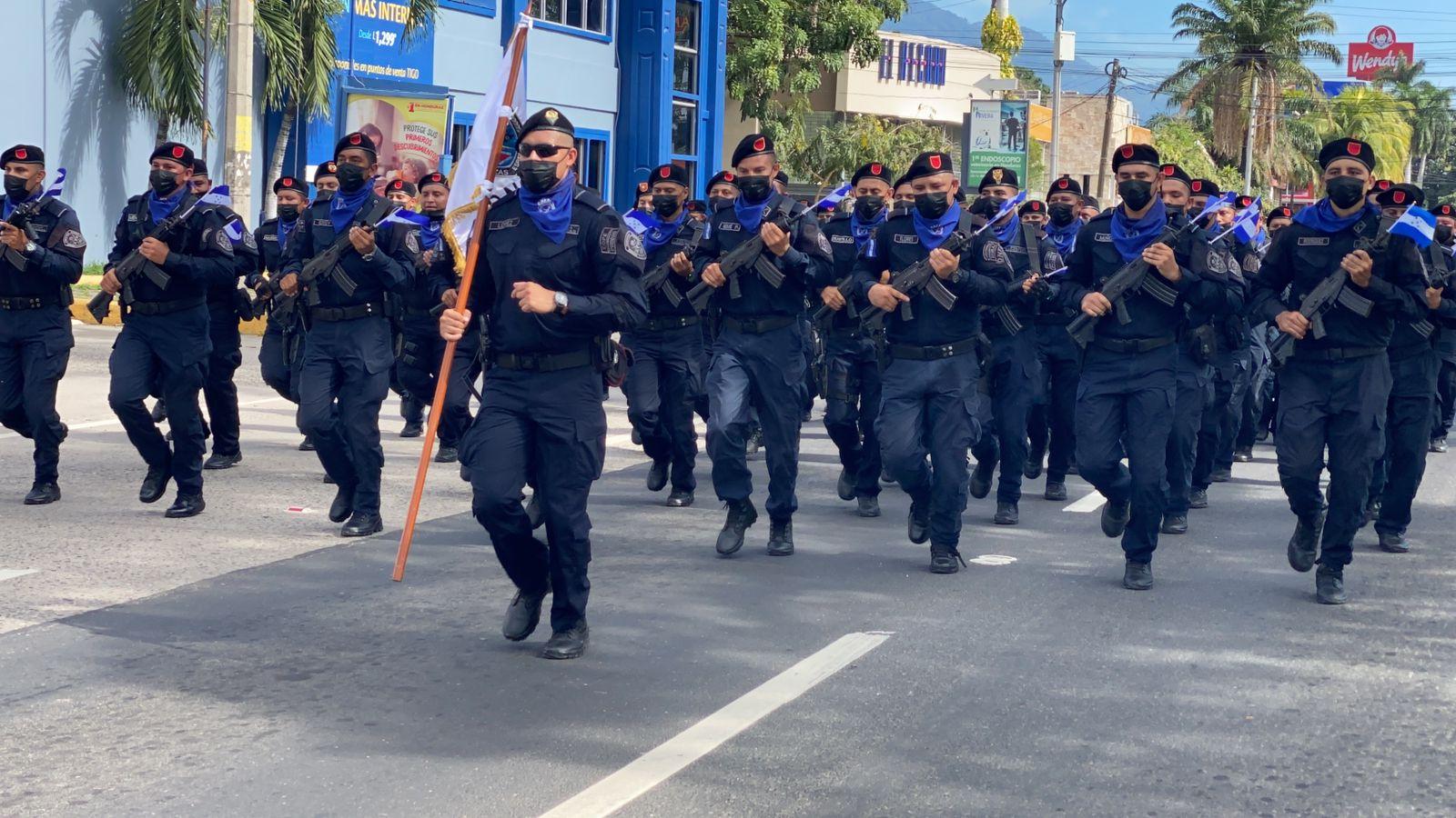 El acto conmemorativo se llevó a cabo en las principales calles de SPS. Fotografía Carlos Hernández.