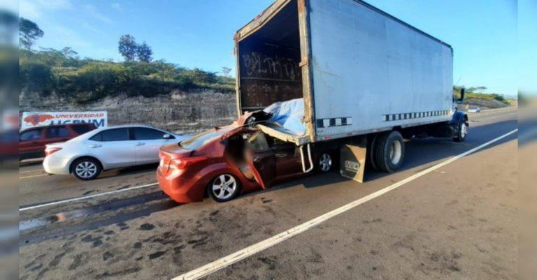DNVT explica qué sucedió: Conductor de camión no tuvo la culpa