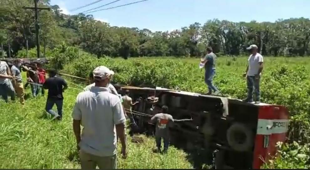accidente camión blindado Yojoa