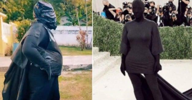 <strong>Comparación de los atuendos de Kim y de La More.