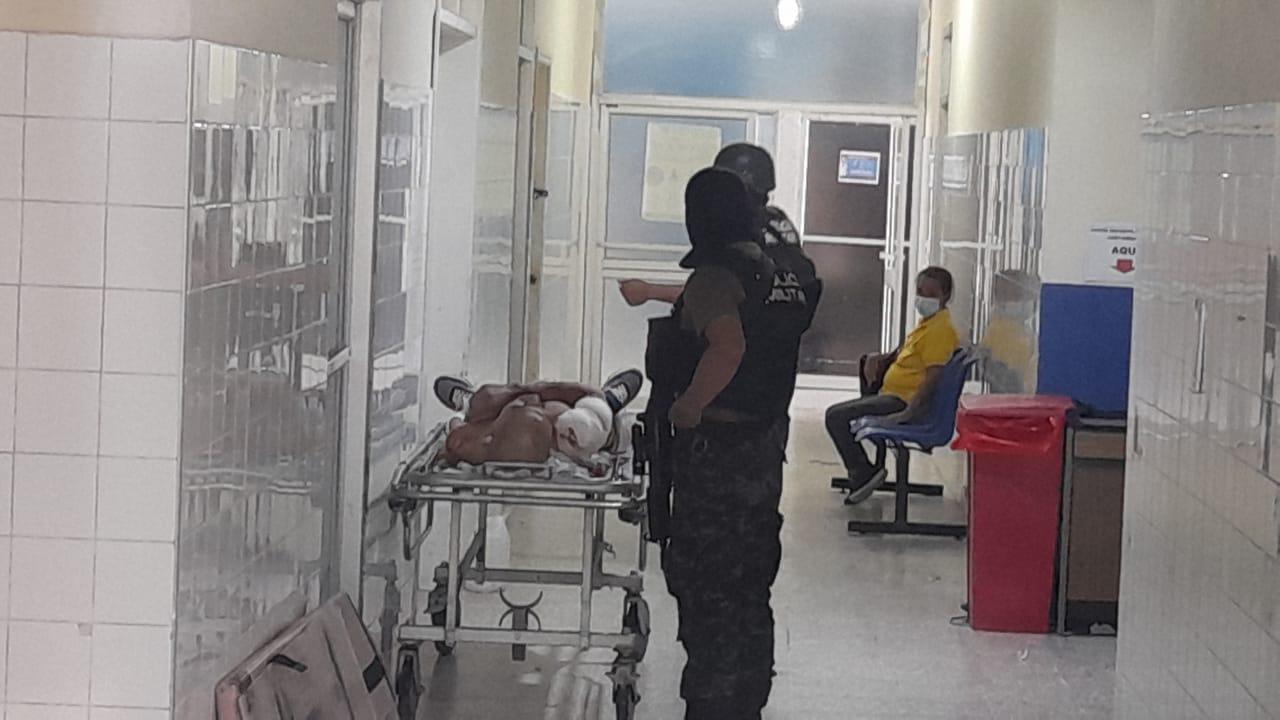 Imagen de un supuesto herido tras enfrentamiento.