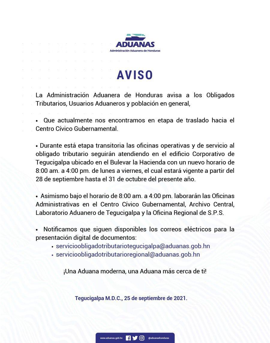 El ente lanzó un comunicado anunciando los cambios de horarios.