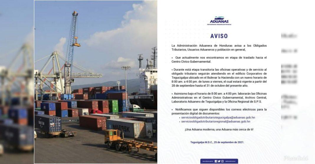 Aduanas anuncia cambios en sus horarios