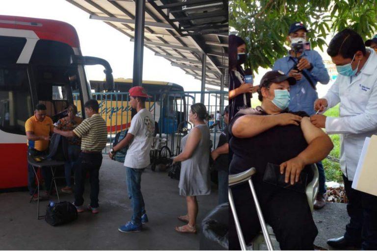 En Feriado Morazánico, habrá vacunación en terminales de buses