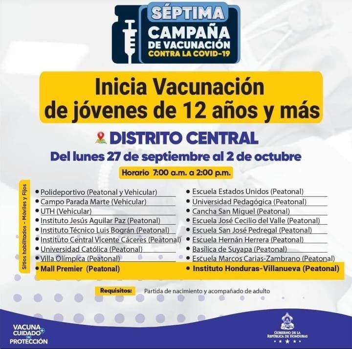 Vacunación Honduras jueves COVID-19