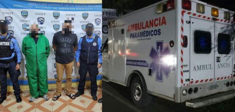En una ambulancia «coyotes» trasladaban a seis nicaragüenses