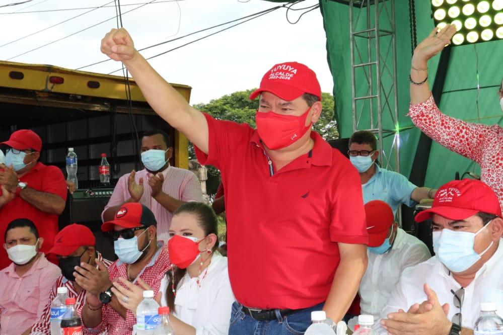 El dirigente liberal Alfredo Saavedra en Valle.