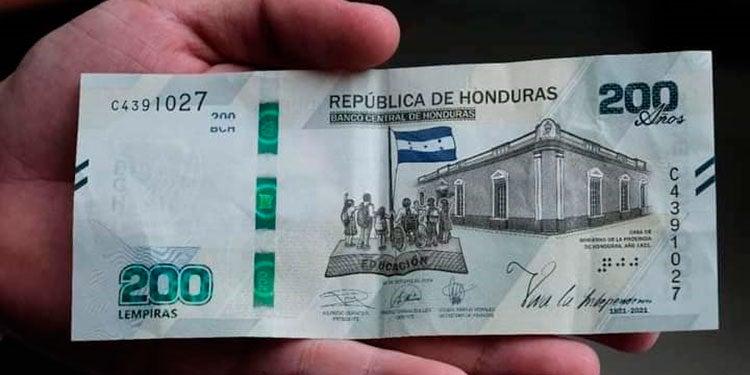 Billetes falsos de 200 honduras