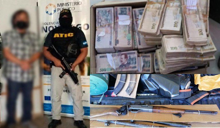 Caen padre e hijo con armas y más de L2,4 millones en La Paz