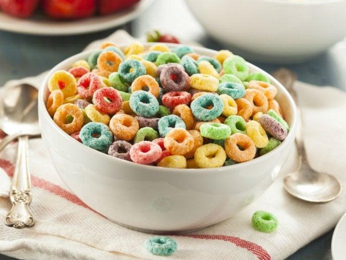 Cereales con azúcar.