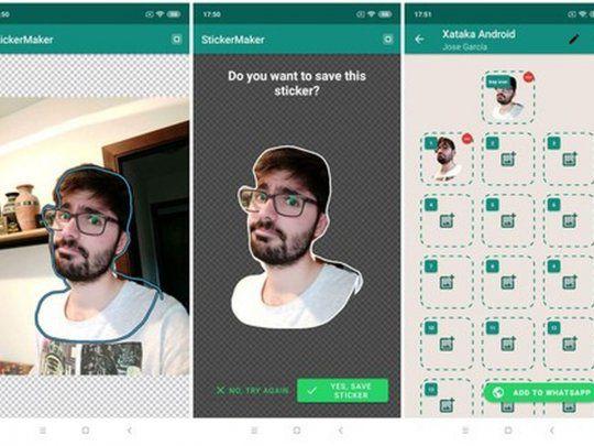 WhatsApp convertir fotos en stickers