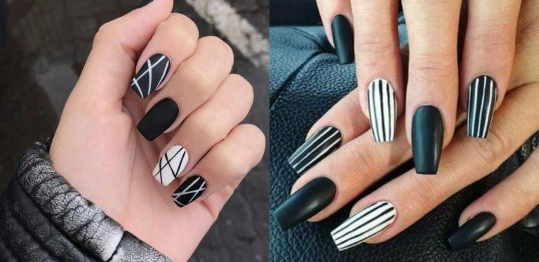 Diez diseños de uñas en blanco y negro que podrías amar