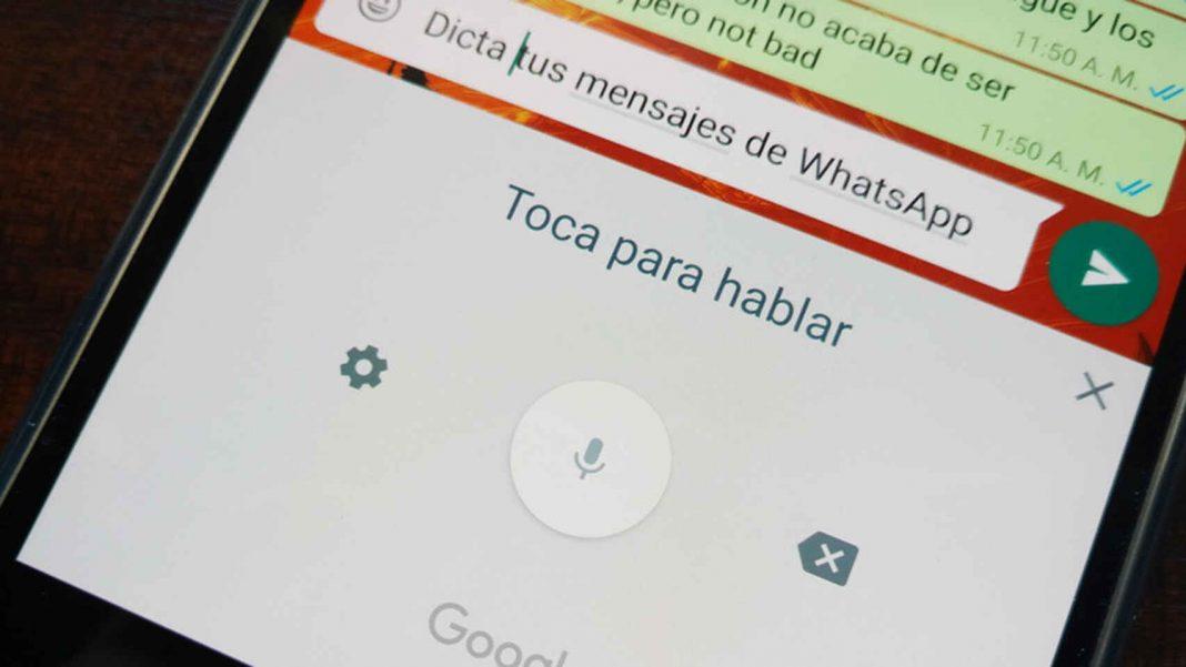 WhatsApp cambiar voz texto