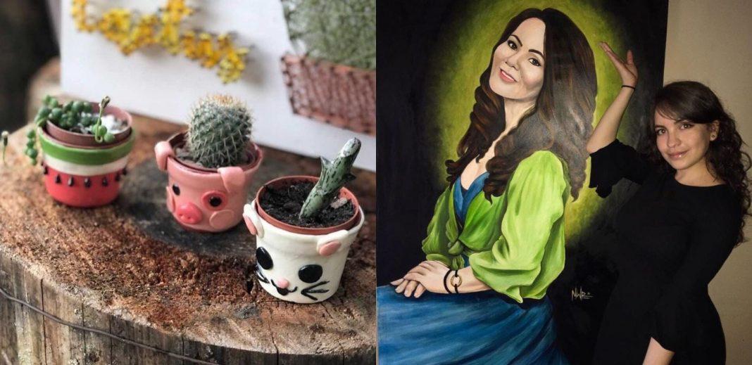 Hondureña Nancy Romero piezas de arte