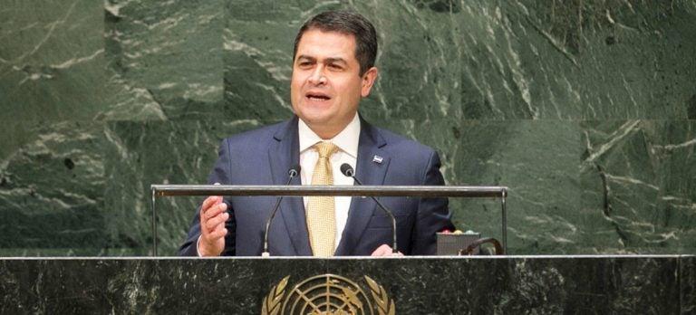 JOH se defiende en la ONU y desmiente acusaciones de narcotráfico