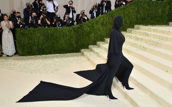 Kim Kardashian durante la MET Gala.
