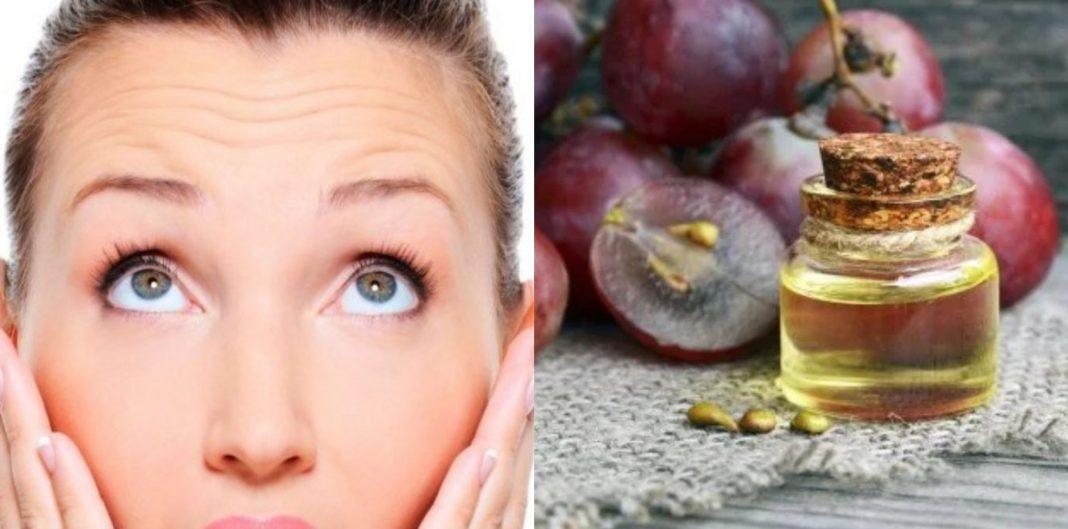mascarilla antiarrugas con aceite de uva