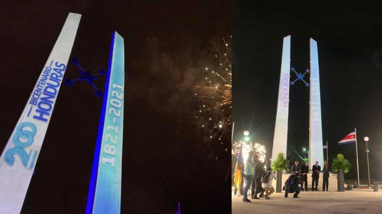 """Tegucigalpa: inauguran el imponente """"Monumento Bicentenario"""""""