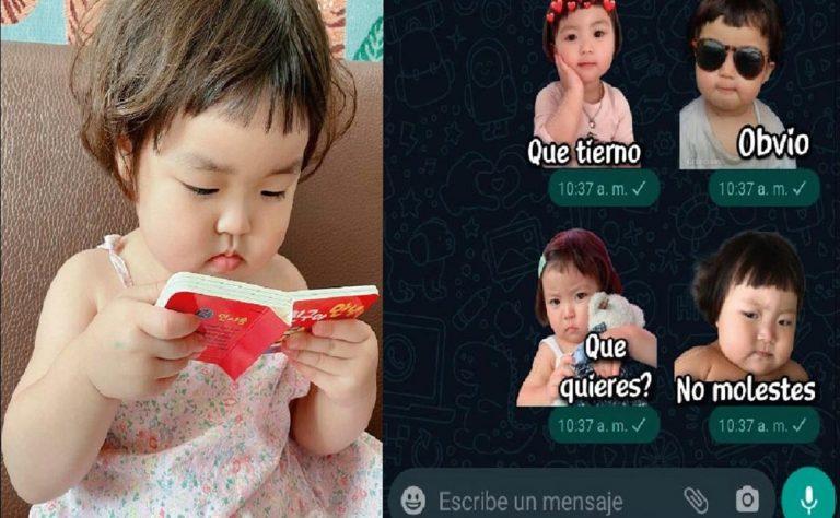 ¿Stickers de niña coreana ya no se podrán compartir en WhatsApp?