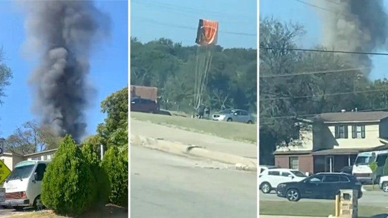 avión militar se estrella en texas