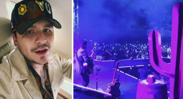 El criticado concierto de Nodal tras el escándalo con Belinda