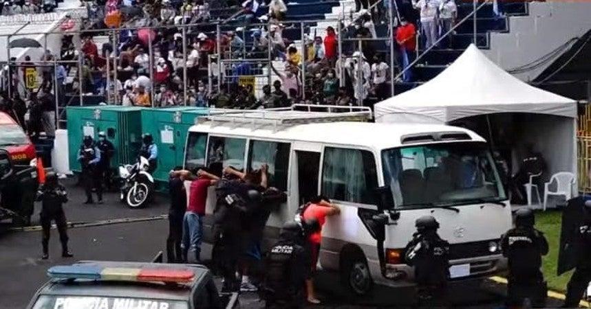 secuestro de bus en estadio nacional