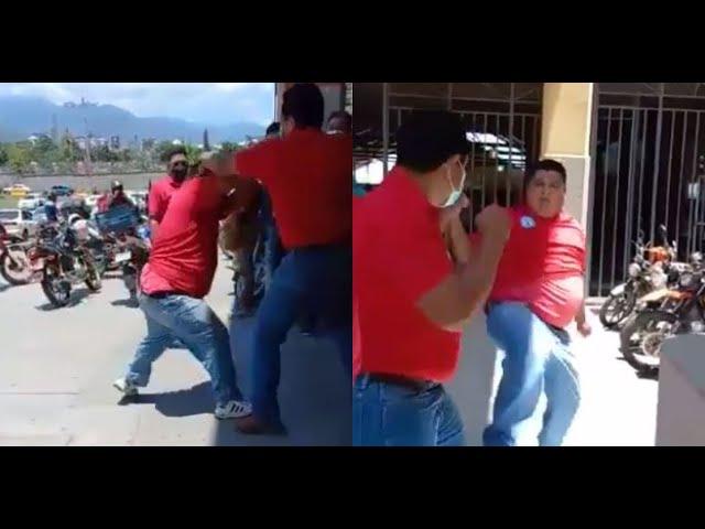 «Por una carrera»: Taxistas se van a los puños en Terminal de SPS