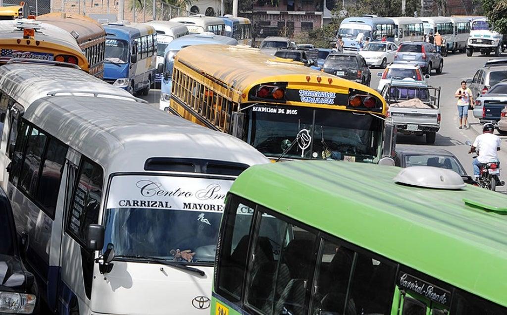 Paro de transporte martes Honduras