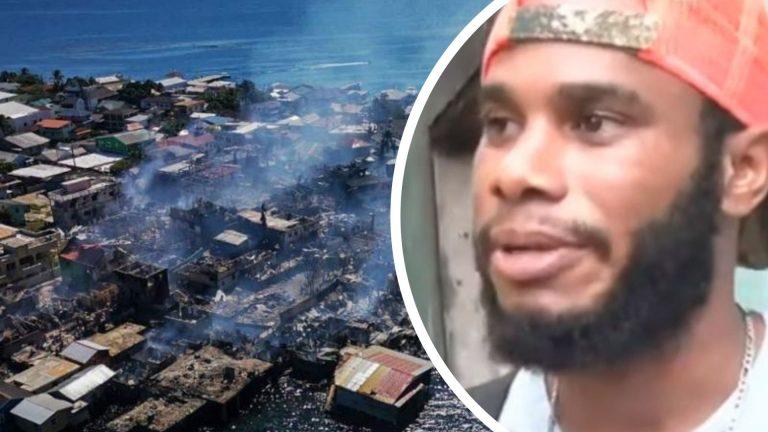 «Estuve peleando en el fuego»: víctima de incendio en Guanaja