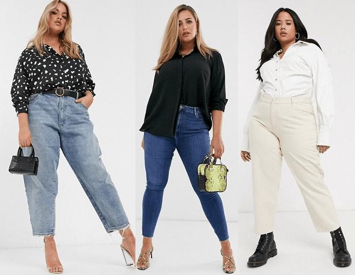 Luce esas curvas con jeans talle alto y procura que las bolsas no sean abultadas.
