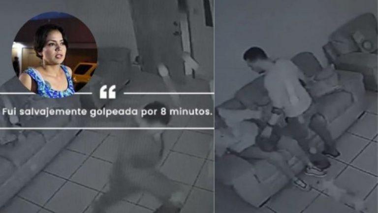 Diputada Zúniga difunde vídeo de brutal golpiza dada por expareja