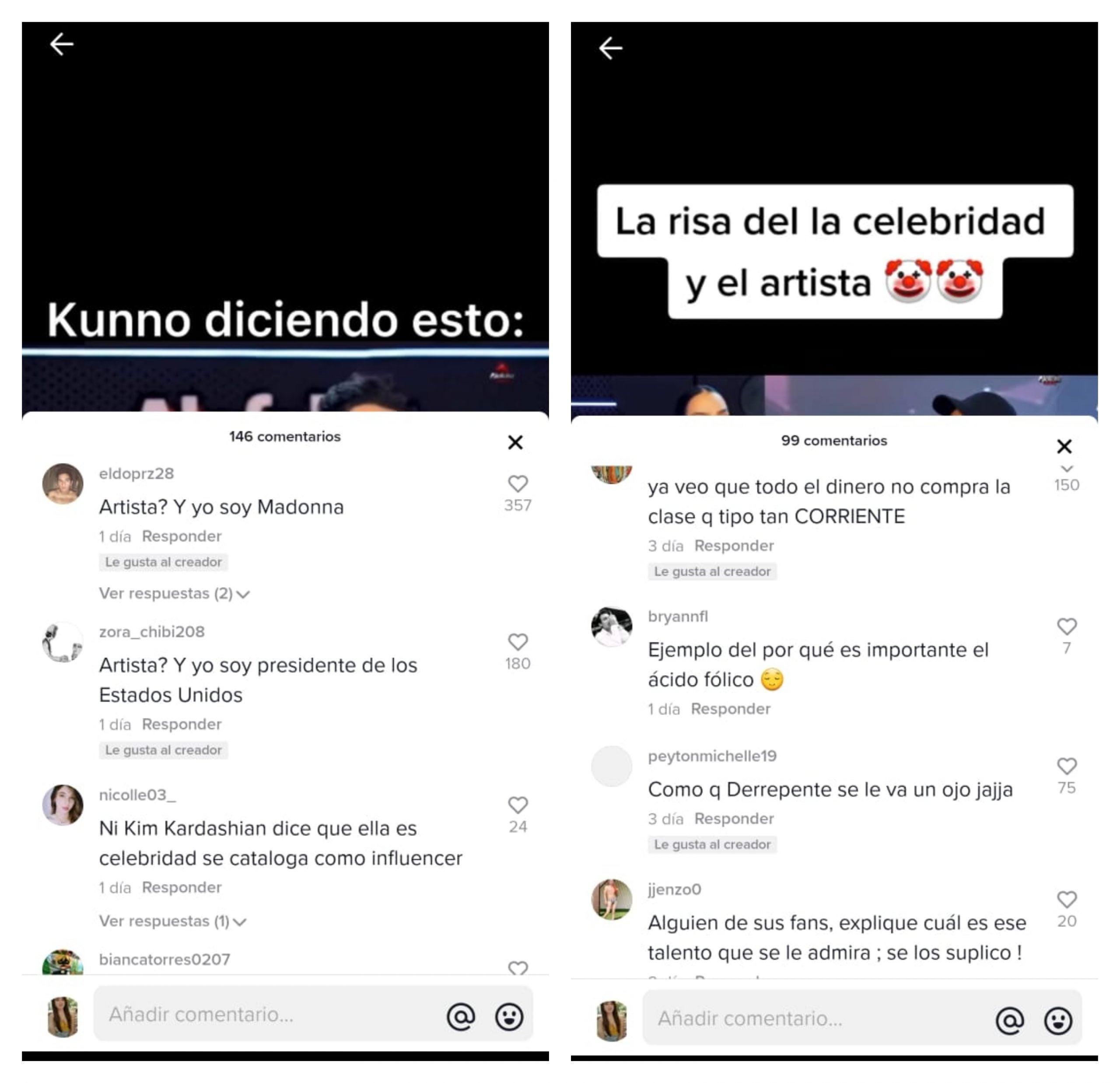 Kunno criticas celebridad y artista