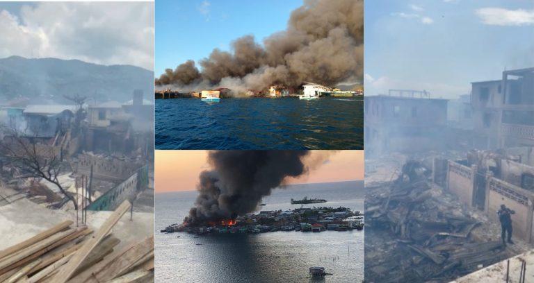 VÍDEO| Como «campo de guerra» quedó Guanaja tras brutal incendio