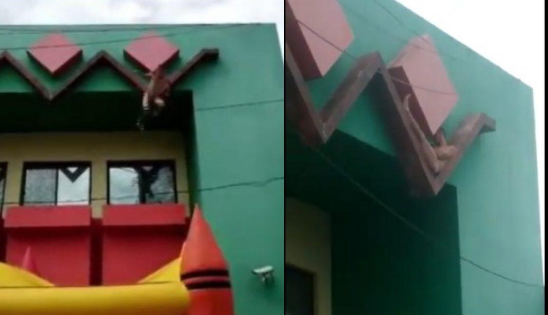 Hombre lanza edificio Siguatepeque