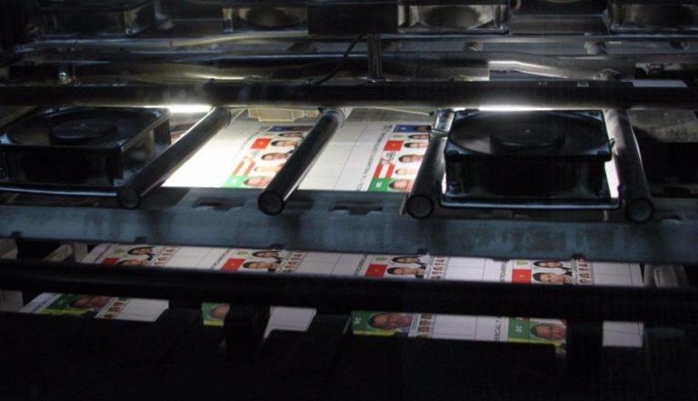 Este sábado inicia la impresión de las papeletas electorales