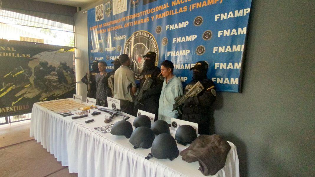 supuestos pandilleros detenidos en La Lima