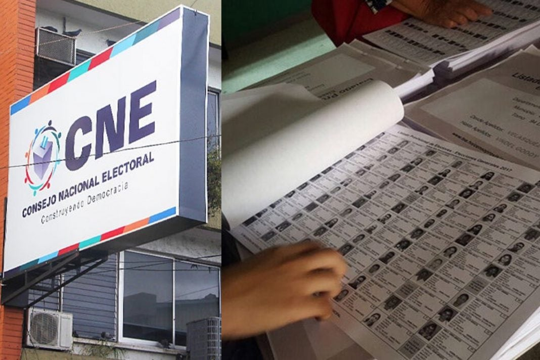 Votantes por departamento Honduras