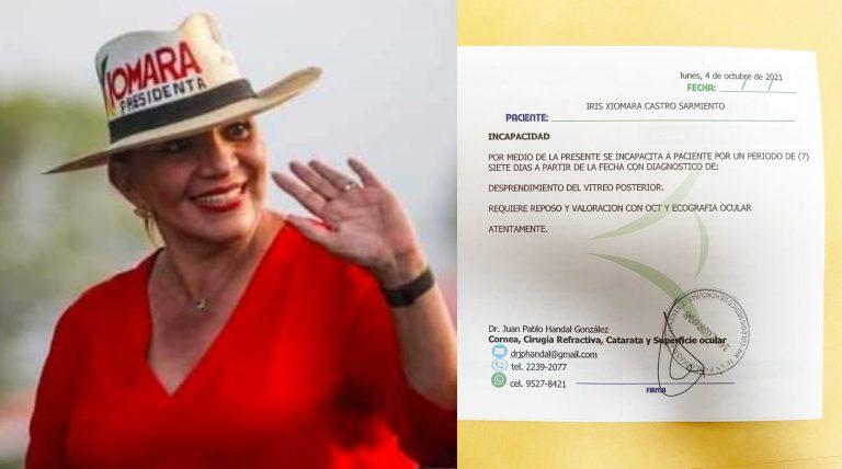 Por incapacidad médica, Xiomara suspende actividades políticas