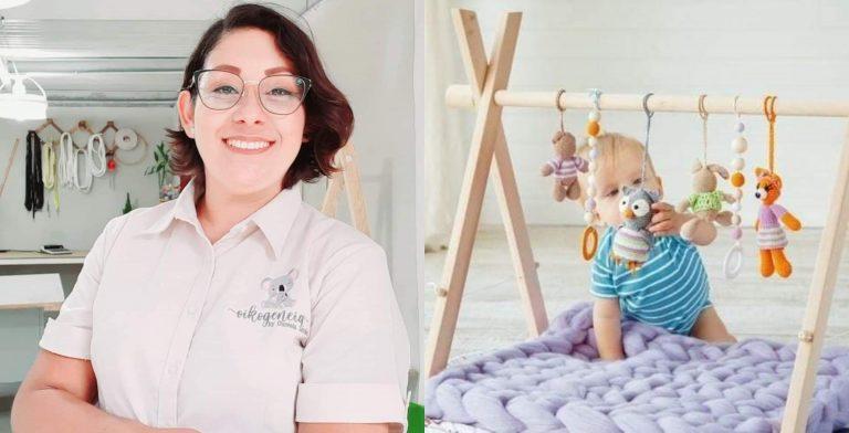 Daniela, la enfermera que emprende con maternidad y lactancia