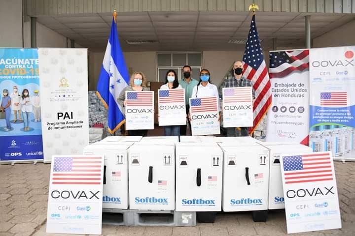 EEUU donó vacunas a Honduras