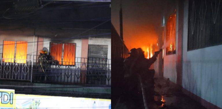 Impactantes fotos y vídeos del incendio de locales en Villanueva