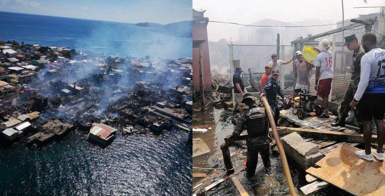 Pobladores relatan cómo se salvaron en incendio de Guanaja
