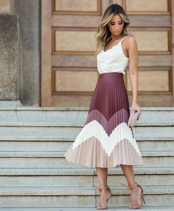 Este estilo de falda es elegante y fresco.