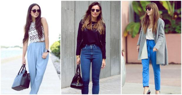 Si tu cuerpo es en forma de pera, lo indicado son los jeans de tiro alto.